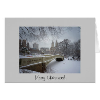 Christmas Card - Bow Bridge- Central Park