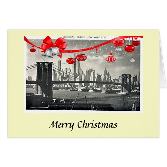 Christmas Card - Brooklyn Bridge, New York City
