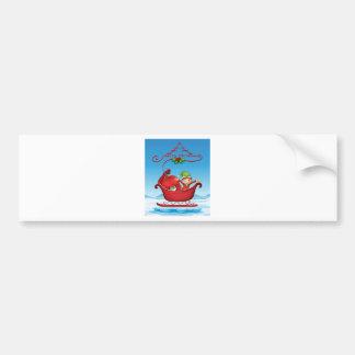 Christmas card bumper sticker