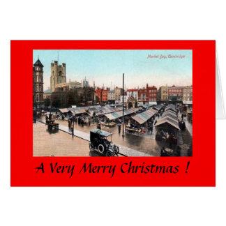 Christmas Card - Cambridge, Market Day