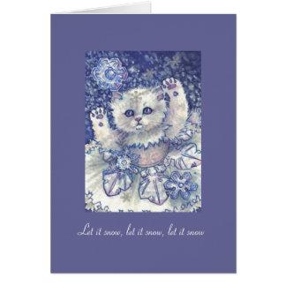 Christmas card Cat Snowflake Dancer