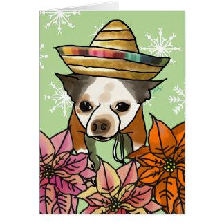Christmas Card, Chihuahua Mix Card