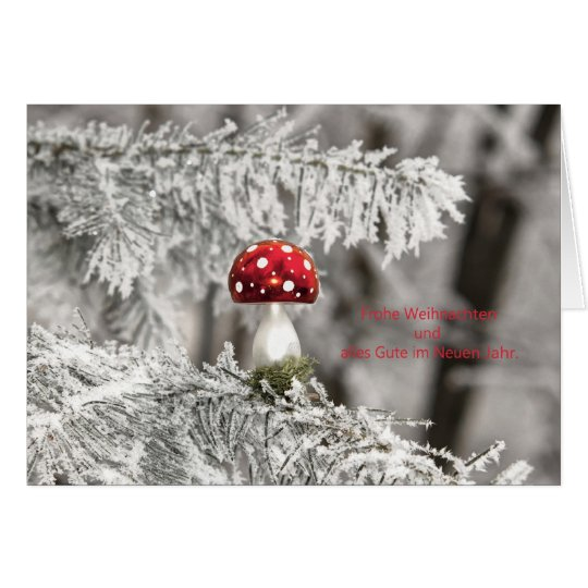 Christmas card Christmas tree fly agaric