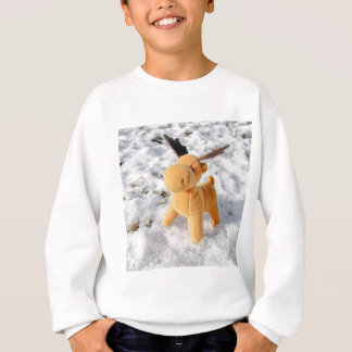 Christmas card Deer in snow Sweatshirt