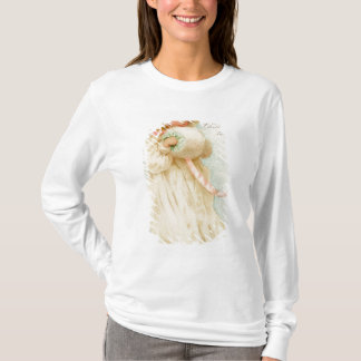 Christmas card depicting a girl with a muff T-Shirt
