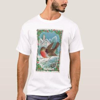 Christmas card depicting a robin T-Shirt