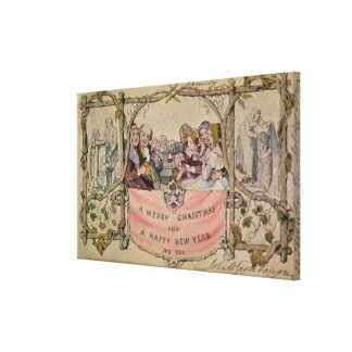 Christmas Card, example of the known Christmas Canvas Print