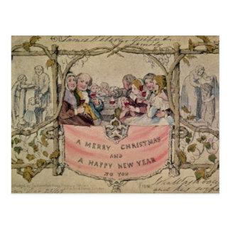 Christmas Card, example of the known Christmas Postcard