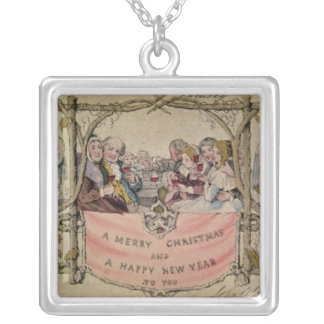 Christmas Card, example of the known Christmas Silver Plated Necklace