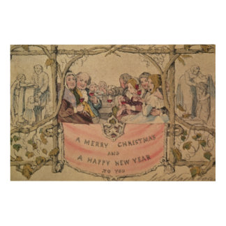 Christmas Card, example of the known Christmas Wood Prints