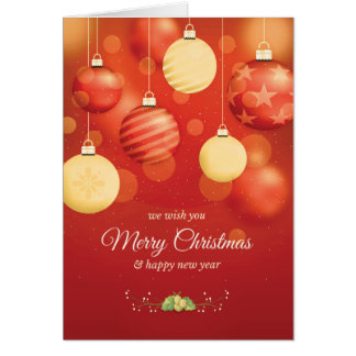 Christmas Card Folded Red