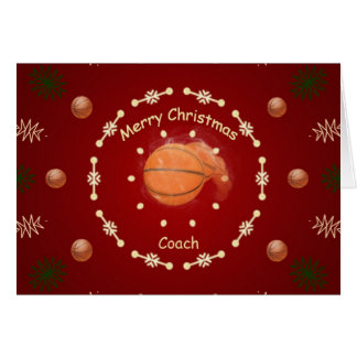 Christmas Card For Basketball Coach
