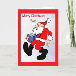 For boss christmas cards zazzle uk christmas card for boss m4hsunfo