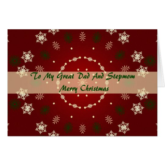 Christmas Card For dad And Stepmom