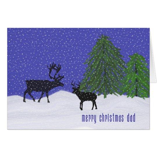Christmas Card for Dad Deer & Snow