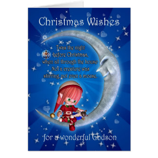 Christmas card, for Godson - night before xmas Card