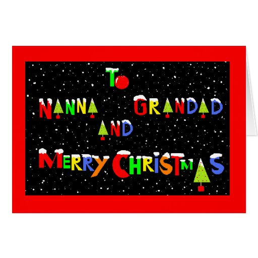 CHRISTMAS  CARD FOR GRANDPARENTS