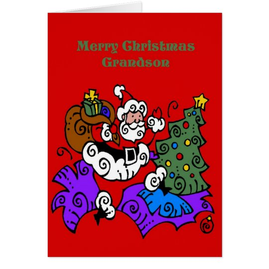 Christmas Card For Grandson