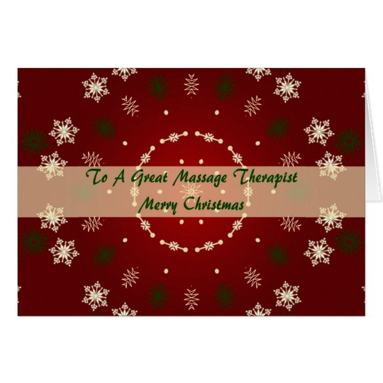 Christmas Card For Massage Therapist