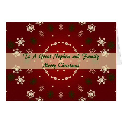 Christmas Card For Nephew And Family