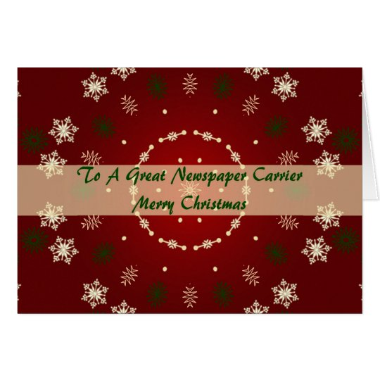 Christmas Card For Newspaper Carrier