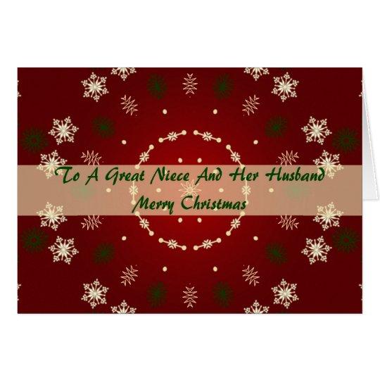 Christmas Card For Niece And Husband