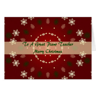 Christmas Card For Piano Teacher
