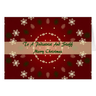 Christmas Card For Podiatrist And Staff