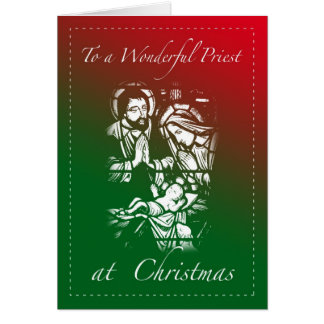 Christmas Card for Priest