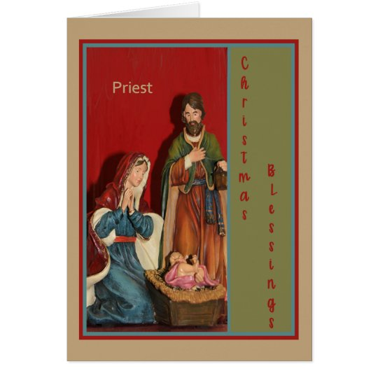 Christmas Card for Your Priest with Manger