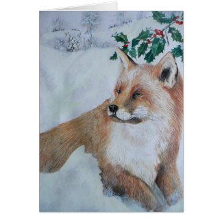 Christmas Card - Fox