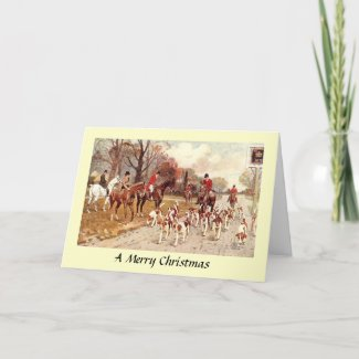 Christmas Card - Fox Hunting
