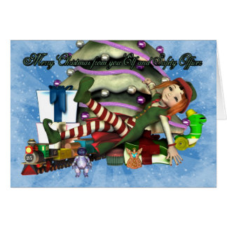 Christmas card from you Elf and Safety Officer
