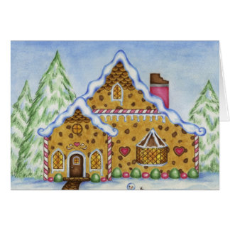 Christmas Card Gingerbread House Lodge