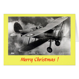 "Christmas Card - Gloster ""Gladiator"""