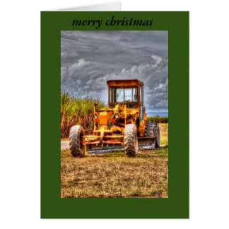 CHRISTMAS CARD GRADER RURAL QUEENSLAND AUSTRALIA