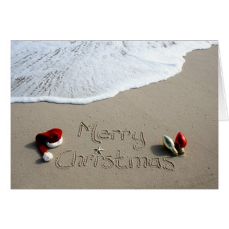Christmas Card Holiday Beach Sand Ocean
