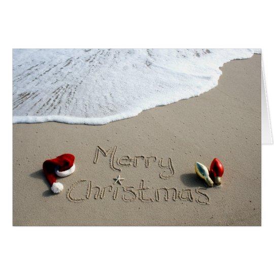 Christmas Card Holiday Beach Sand Ocean
