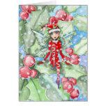 Christmas Card Holly Fairy by Molly Harrison