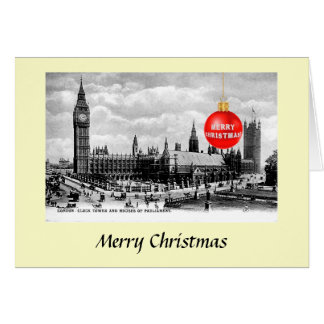 Christmas Card - Houses of Parliament, London