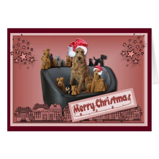 Christmas card Irish Terrier