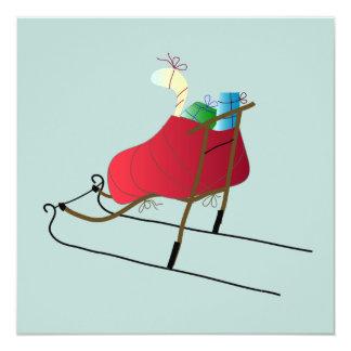 Christmas Card kick Sled