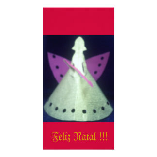 Christmas card Kirigami Angel Photo Card