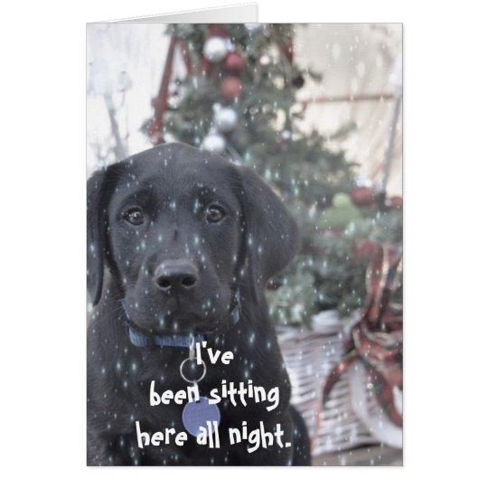 Christmas Card ~Labrador Puppy