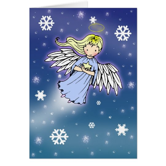 Christmas Card Little Snowflake Angel