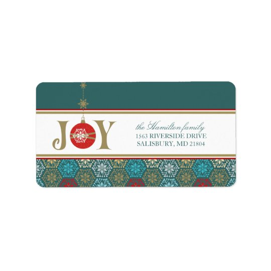 Christmas Card Mailing Address Labels