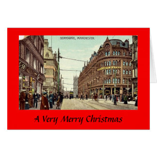 Christmas Card - Manchester, Deansgate, 1907