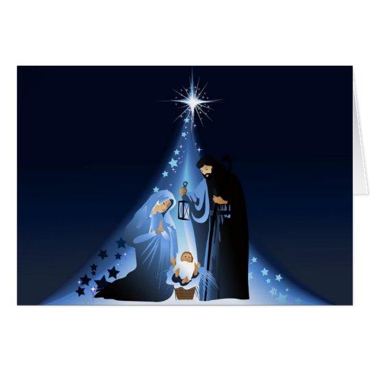 Christmas Card-Manger Scene Card