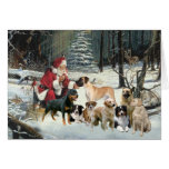 Christmas Card Multiple Dog Breeds