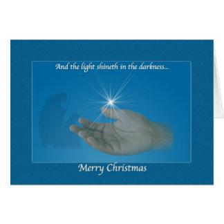 Christmas Card, Nativity, Star, Religious Greeting Card